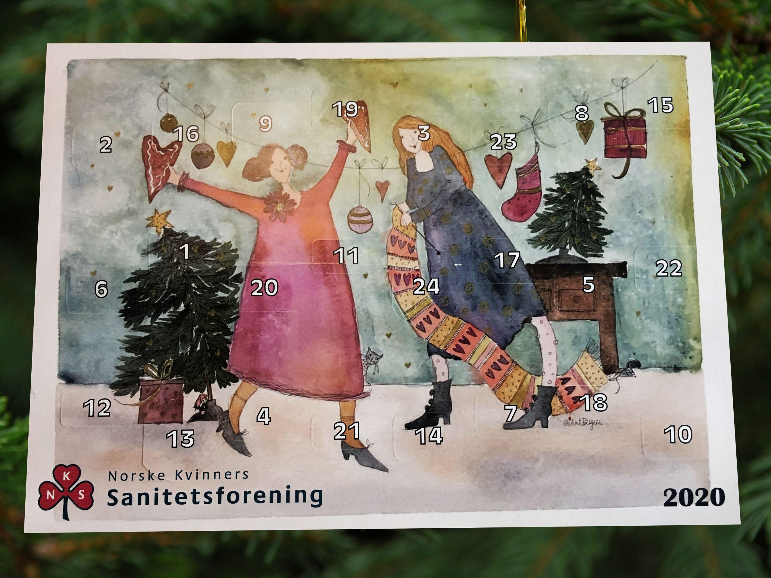 Adventskalender i salg! Kr 50,-