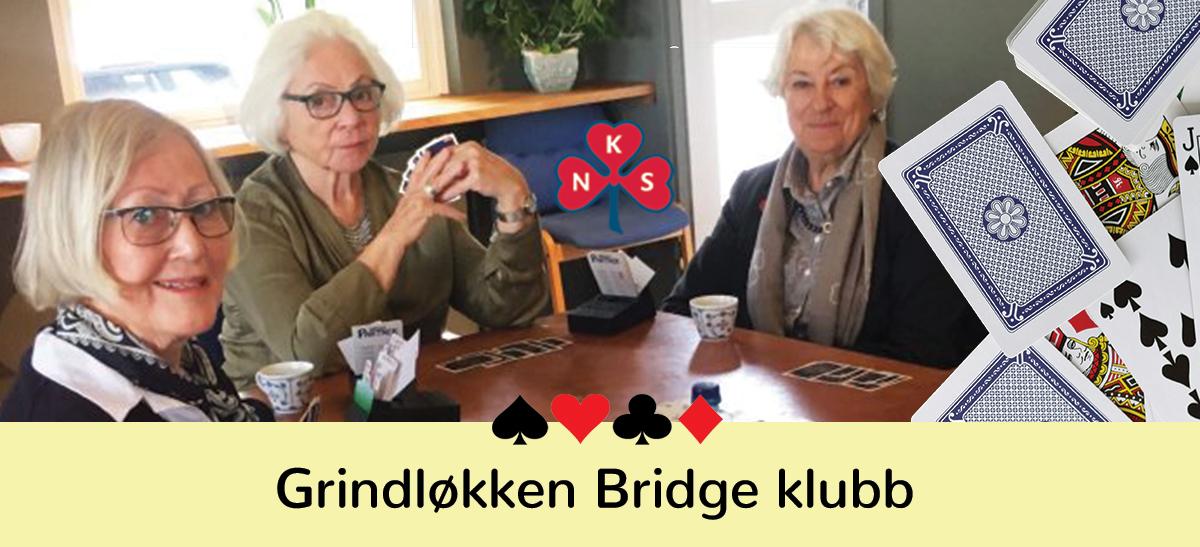 Nå starter vi opp med Bridge i Sanitetshuset på Grindløkken!